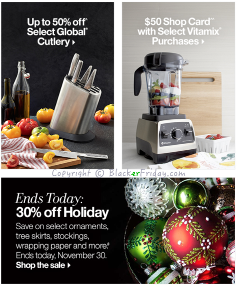 Crate and Barrel Cyber Monday Ad Scan - Page 2