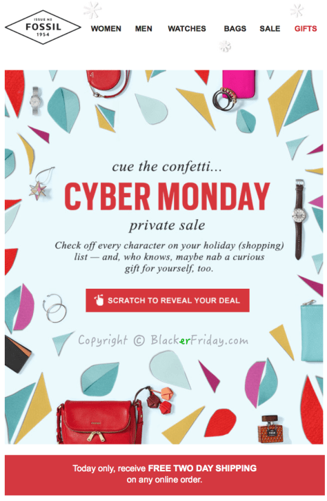 Fossil Cyber Monday Ad Scan - Page 1