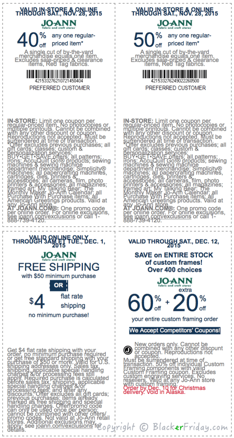 Jo Ann Fabrics Cyber Monday Ad Scan - Page 3