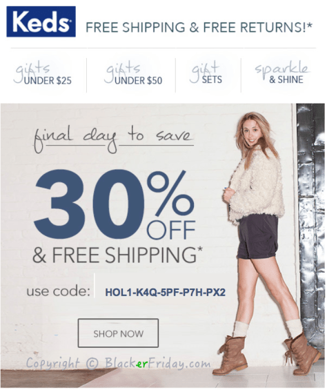 Keds Cyber Monday Ad Scan - Page 1