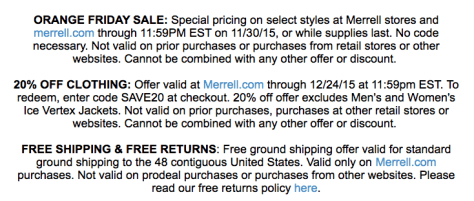 Merrell Cyber Monday Ad Scan - Page 2
