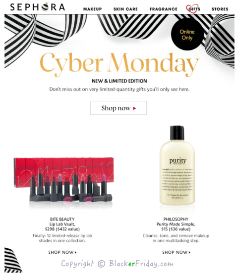 Sephora Cyber Monday Ad Scan - Page 1