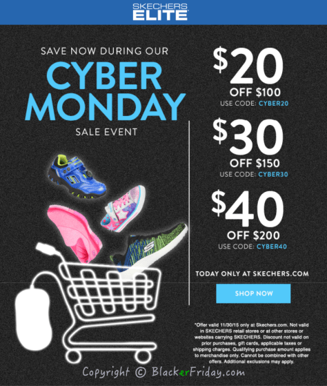 Skechers Cyber Monday Ad Scan - Page 1