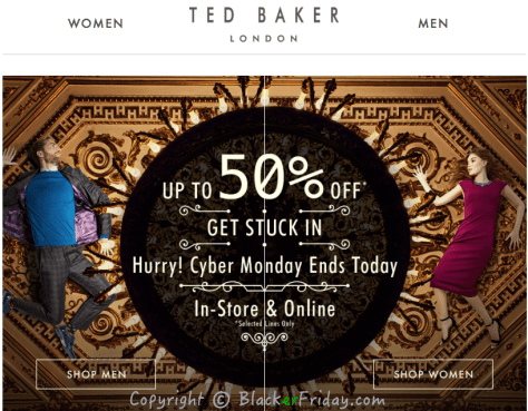 Ted Baker Cyber Monday Ad Scan - Page 1