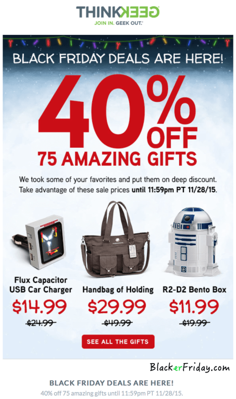 Thinkgeek Black Friday Ad - Page 1