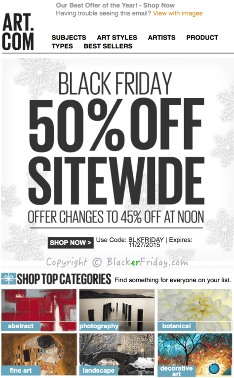 Art com Black Friday Ad Scan - Page 1