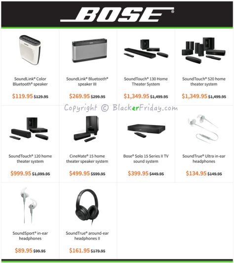 Bose Black Friday Ad Scan - Page 1