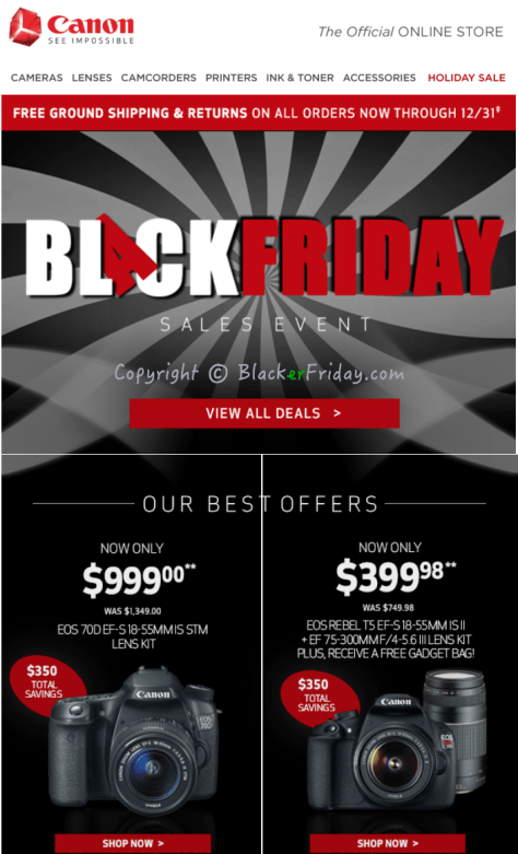 Canon Black Friday Ad Scan - Page 1