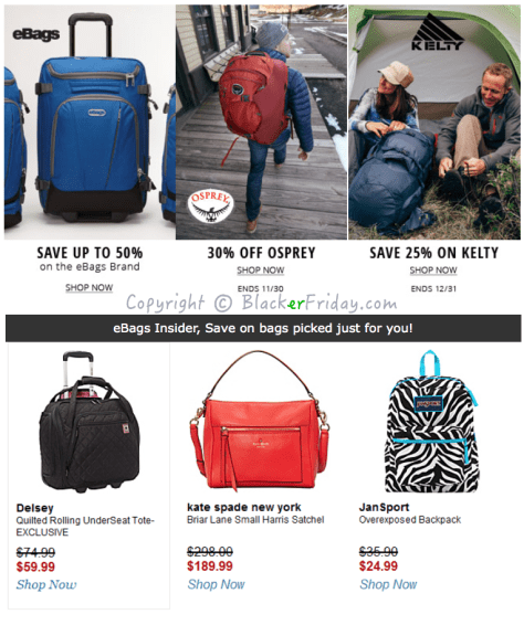 Ebags Black Friday Ad Scan - Page 9