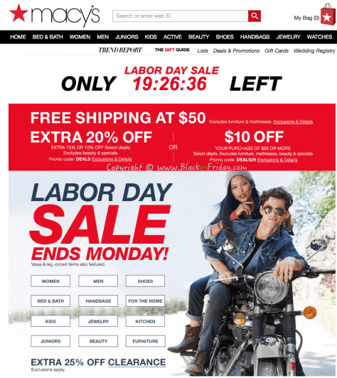 Macys Labor Day 2016 Sale - Page 1