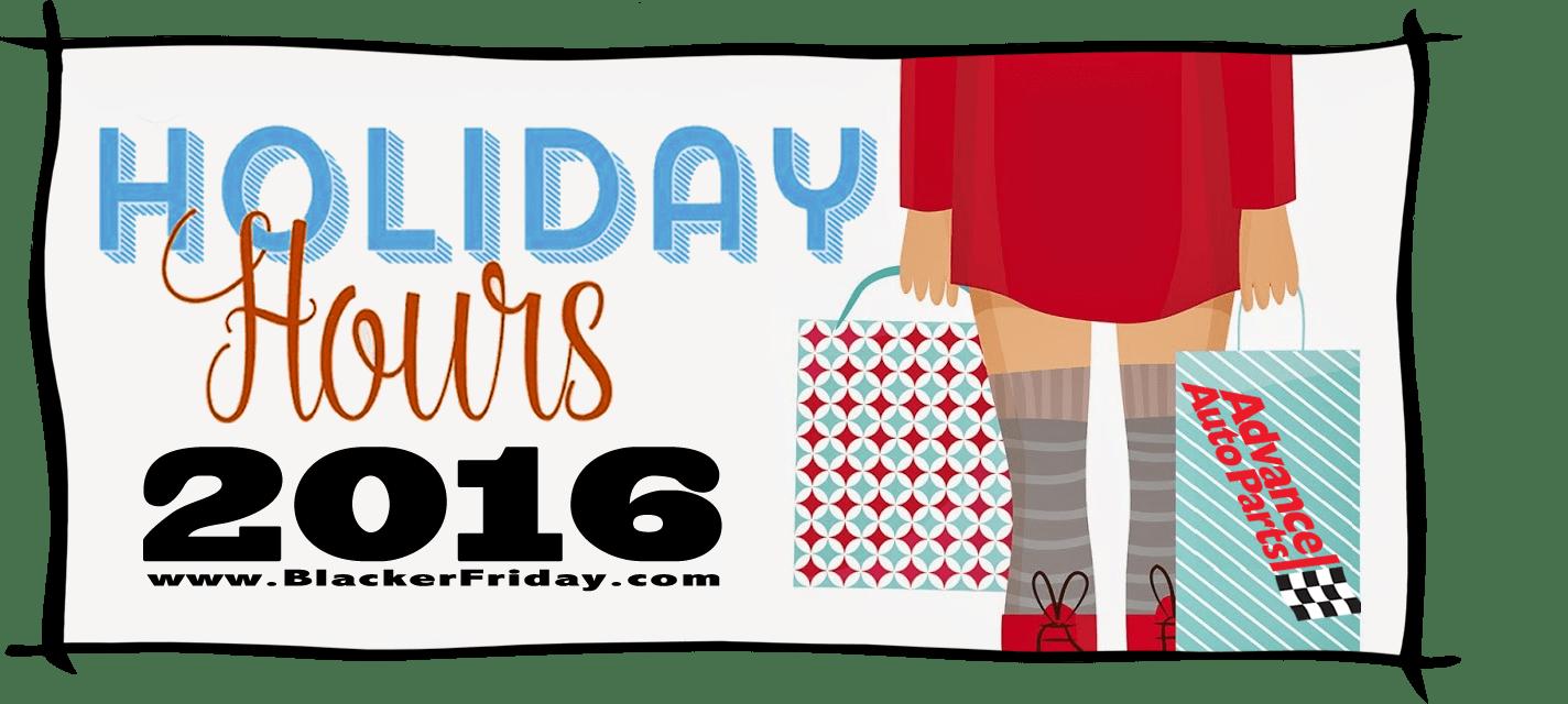 Advance Auto Parts Black Friday Store Hours 2016