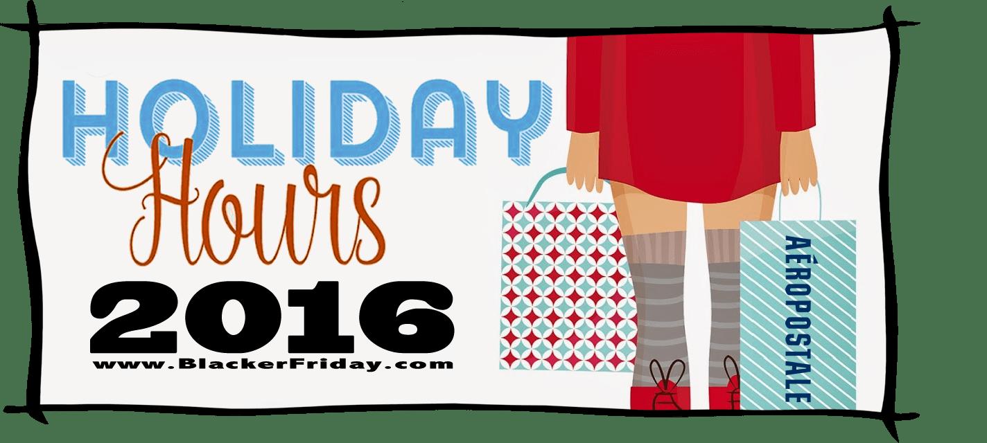 Aeropostale Black Friday Store Hours 2016