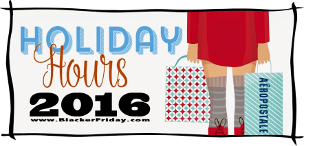 Aeropostale Black Friday Opening Hours 2016