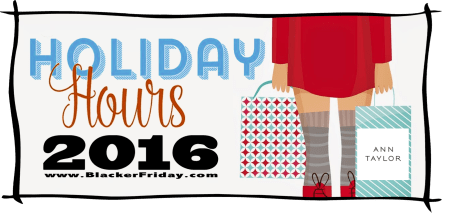 Ann Taylor Black Friday Opening Hours 2016