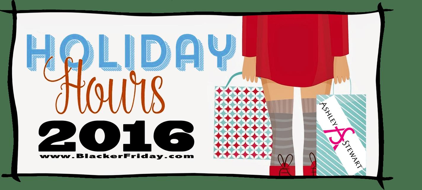 Ashley Stewart Black Friday Store Hours 2016