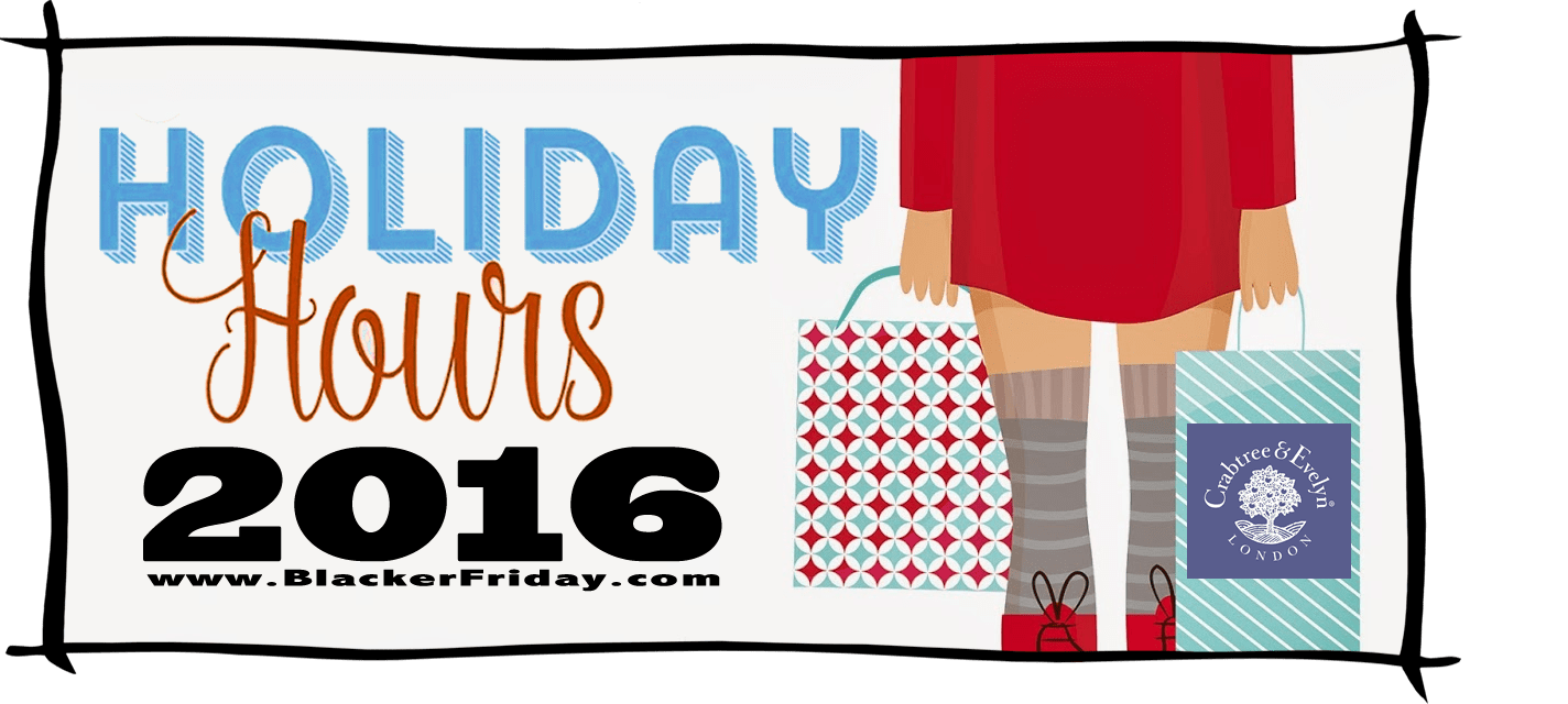 Crabtree and Evelyn Black Friday Store Hours 2016