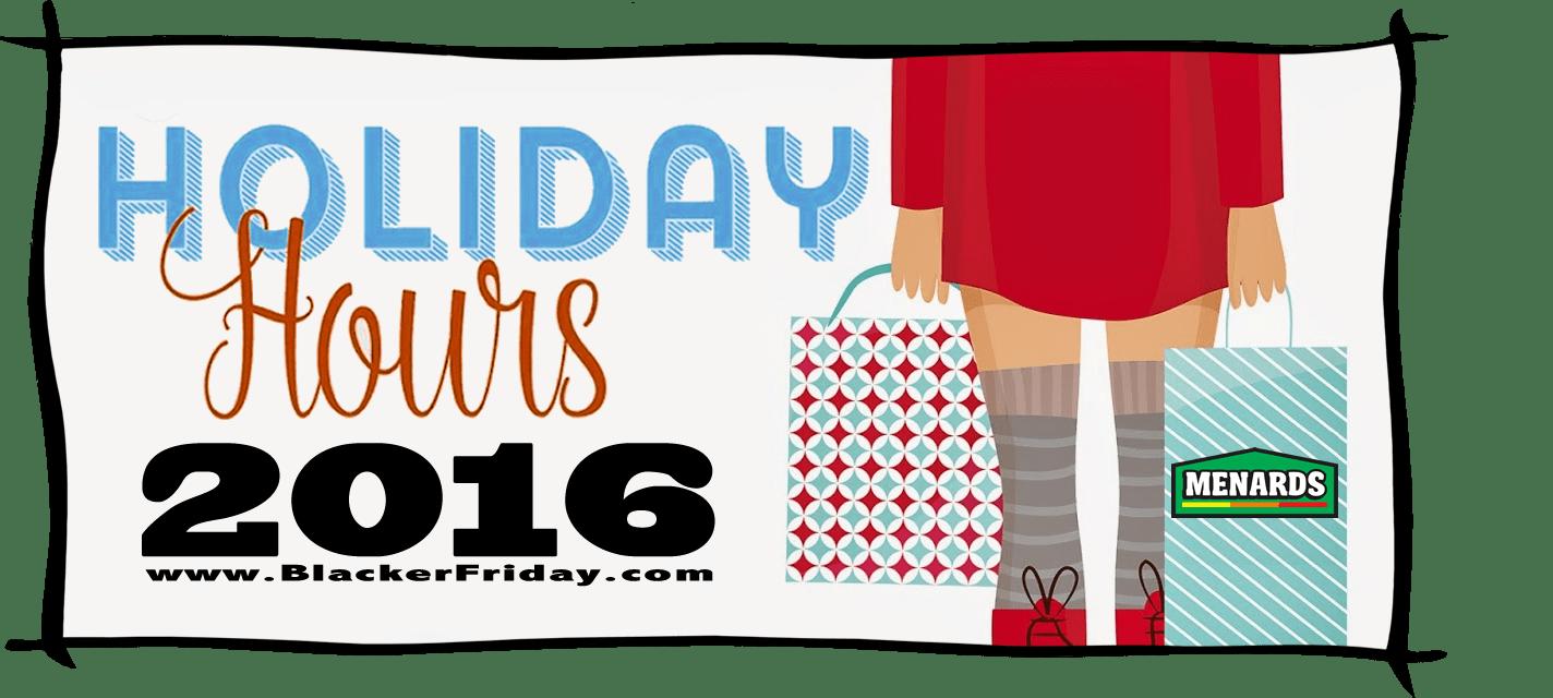 Menards Black Friday Store Hours 2016