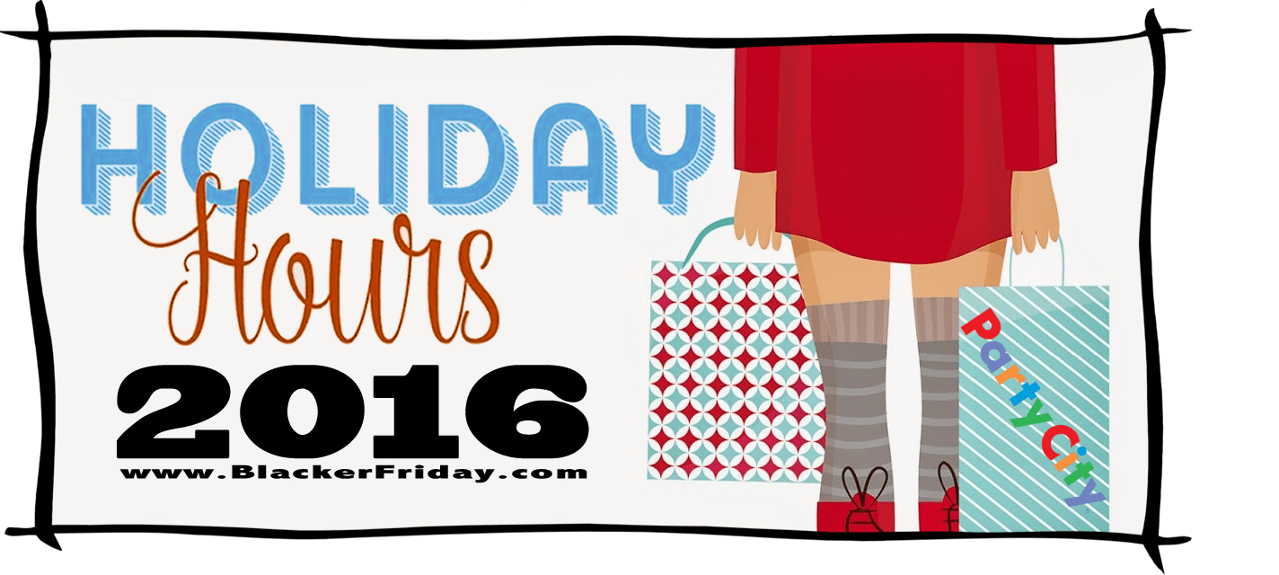 Party City Black Friday Store Hours 2016