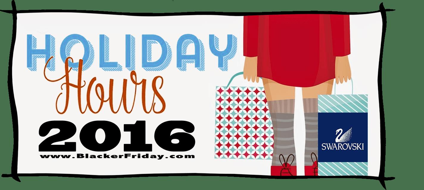 Swarovski Black Friday Store Hours 2016