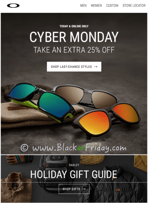 Oakley Cyber Monday Sale Ad Scan - Page 1