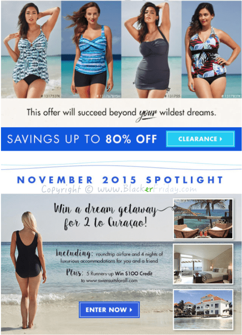 Swimsuits for All Black Friday Sale Ad Flyer - Page 2