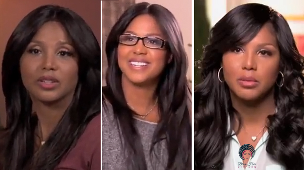Toni Braxton's hair looks from Braxton Family Values