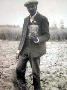 George Washington Carver in field