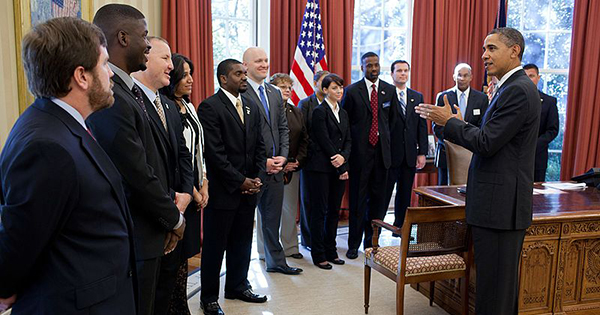 President Obama discussing the Jobs Act