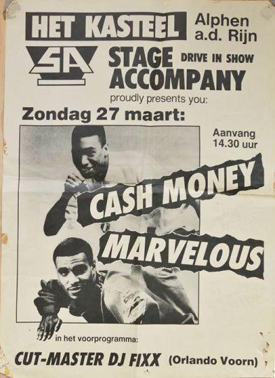 cash money 1987 flyer