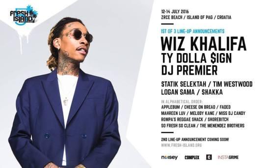 Wiz Khalifa & Ty Dolla $ign At This Year's Fresh Island Festival