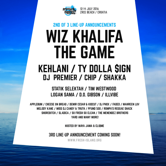 The Game, Kehlani, Wiz Khalifa, Ty Dolla $ign, DJ Premier at Fresh Island 2016