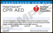 American Heart Association Heartsaver CPR AED Provider