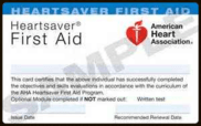 American Heart Association Heartsaver First Aid Provider