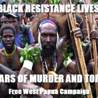Black people in West Papua fighting their extermination by Indonesia government
