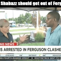 Video: Malik Shabazz Get Out Of Ferguson NOW!