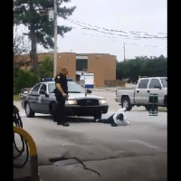 Psycho thug cop tortures man in handcuffs with taser