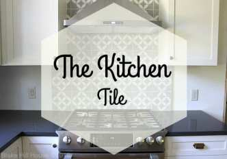 encaustic cement tile backsplash DIY