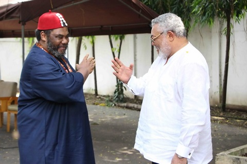 Pete Edochie with Rawlings