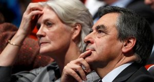 Francois Fillon with wife