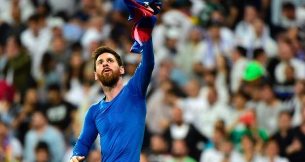 Messi taking the victory in