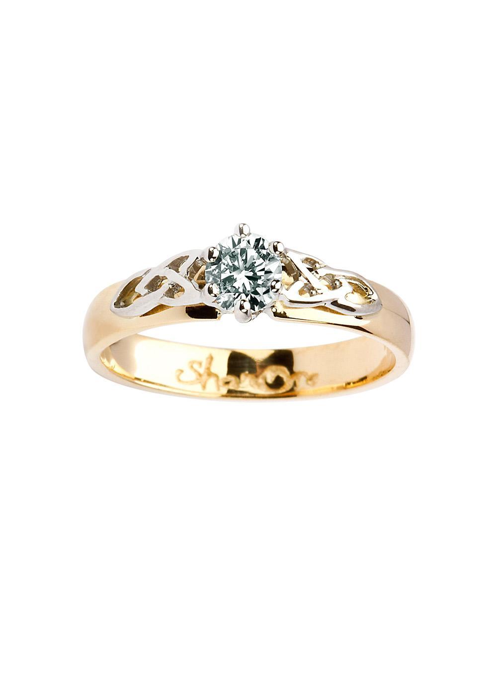 Horrible Ladies G Diamond Celtic Engagement Ring Ladies G Diamond Celtic Engagement Ring Blarney Irish Engagement Rings Settings Irish Engagement Rings wedding rings Irish Engagement Rings
