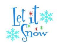 Let it Snow 6X10 Hoop