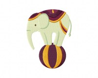 Elephant on Ball 5_5 Inch