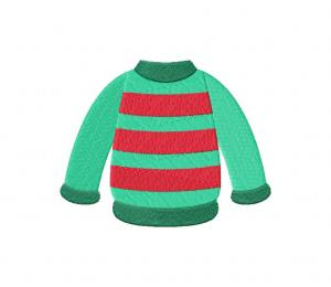 Winter Sweater Stripes Stitched 5_5 Inch