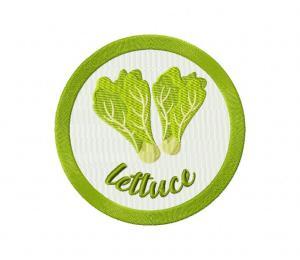 lettuce vegetable badge 5_5 inch