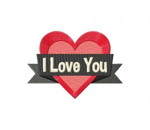 I Love You Heart Quote Stitched 5_5 Inch