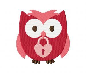 Valentine Owl Lock 5_5 inch
