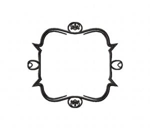 Abstract Ornament Frame Stitched 5_5 Inch