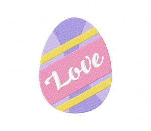 Easter Egg – Love Stitched 5_5 Inch