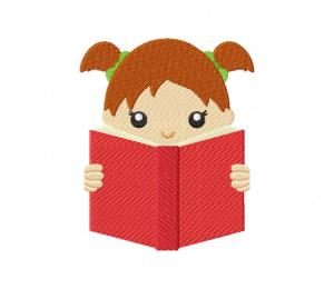 Reading Girl Pigtails 5_5 inch